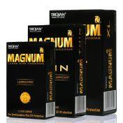 Trojan Magnum Ribbed x12