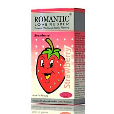 Préservatifs Romantic Strawberry x12