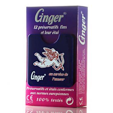 Préservatifs Ginger avec leur étui x12
