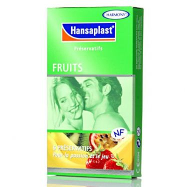 Préservatifs Hansaplast Fruits x6