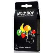Préservatifs Billy Boy Coloured & Flavoured x4