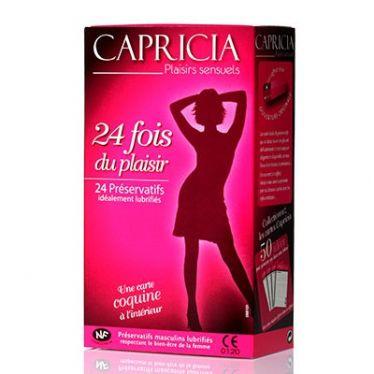 Préservatif Capricia 24 fois du plaisir x24