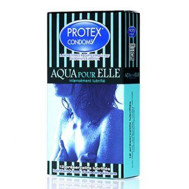 Préservatif Protex Aqua pour Elle x12