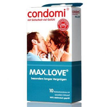 Préservatifs Condomi max. LOVE x10