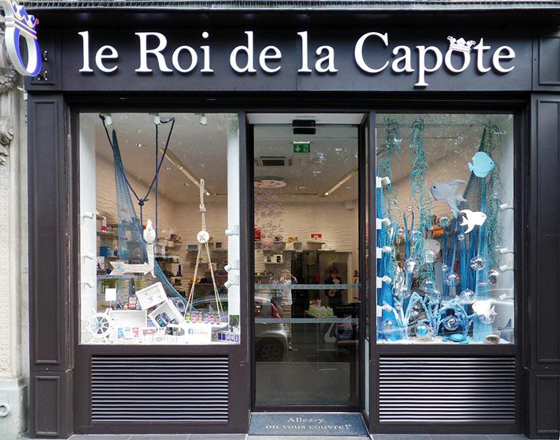 Façade de la boutique du Roi de la Capote