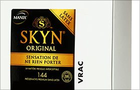 Los condones Manix Skyn poliisopreno látex x144