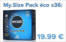 My.Size paquete de economía de condones