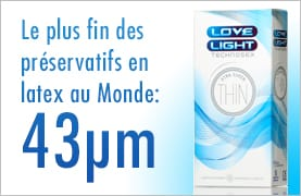 Préservatif Love Light Xtra Super Thin, le plus fin du Monde !