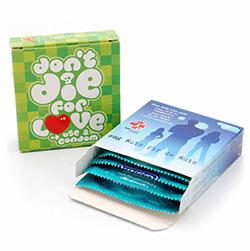 Pochette préservatifs enboîte cartonnée personnalisée