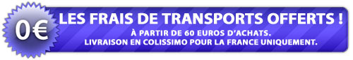 Frais de transports offert chez le Roi de la Capote à partir de 60 €