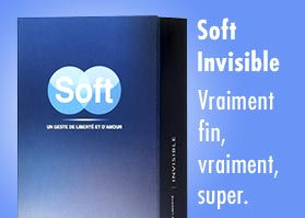 Le plus des préservatifs en latex c'est Soft Invisible